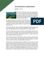 Minas Gerais lidera desmatamento na Mata Atlântica