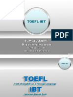 TOEFL IBT Speaking Session