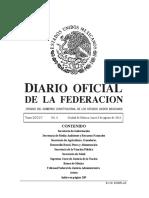 Diario Oficial de la Federación Méxicana 08/08/2016