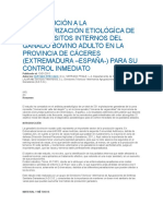 Contribución a La Caracterización Etiológíca de Los Parásitos