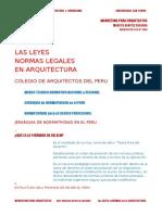Leyes y Normas Legales en La Arquitectura