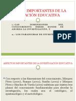 Aspectos Importantes de La Investigación Educativa