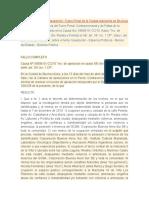 Fallo Sobre Delito de Usurpación Argentina