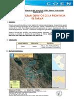 Heladas afectan distritos de Tarma