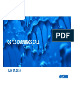 Q2 2016 Amgen Earnings Conference Call Presentation