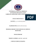 Problemas Errores y Soluciones de Los Cortes en Microtomía.docx