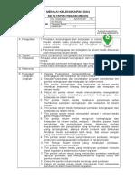SOP Menilai Kelengkapan Rekam Medis (8.4.4)