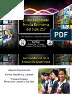 Preparando Para La Economã-A Del Futuro - Jhon Sachtouras