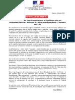 Communiqué Du Haut-Commissaire de La République Suite Aux Déclarations Faites Lors Du Synode de Léglise Protestante Maohi à Lencontre de LEtat
