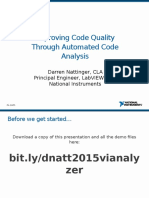 Improving Code Quality Through Automated Code Analysis