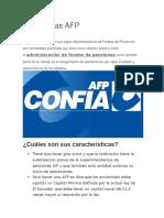 Que son las AFP