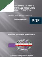 Diapositivas Magnitud Directamente Proporcional y Regla de Tres Simple Directa