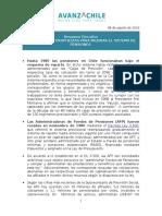 Informe de Coyuntura Pensiones 2016 - Sebastián Piñera