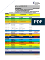 Timetable Kleve WS 201516 Update 27.10