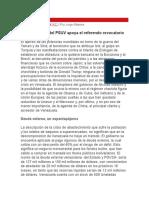 Jorge Altamira - La Izquierda Del PSUV Apoya El Referendo Revocatorio