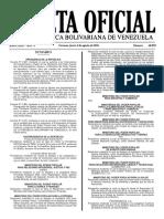 Gaceta Oficial Número 40.959 de la República de Venezuela, 04 de agosto de 2016