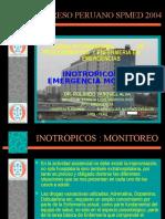 Exposicion Monitoreo Inotropicos