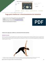 Yoga Para Melhorar o Funcionamento Do Intestino - Lar Natural