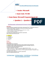 70-483 Exam Dumps with PDF and VCE Download