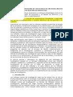 Diseño e Implementación de Un Estudio de Metodos Mixtos de Investigación en Gestión de Proyectos