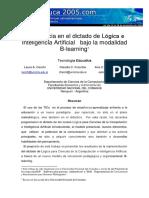 Dictado de Logica e Inteligencia Artificial Con B-learning