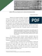 A Relevancia Da Traducao No Oitocentos Brasileiro