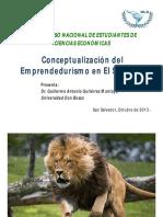 Conferencia No.1Conceptualizacion Emprendedurismo