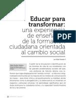 Educar Para Transformar [Nidia Paredes, 2016]