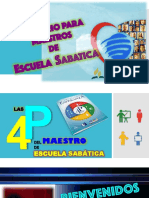 Las 4P del Maestro. Escuela Sabática