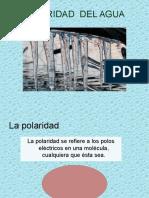 2.1 La Polaridad Del Agua