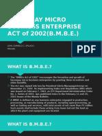Barangay Micro Business Enterprise Act of 2002(b