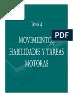 Moviemientos , Habilidades y Tareas Motoras