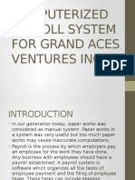 Computerized Payroll System for Grand Aces Ventures Inc
