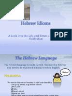 Hebrew Idioms