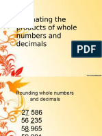 Estimating the Products of Decimals