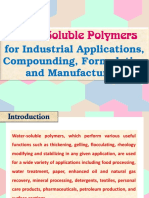 Water Soluble Polymers for Industrial Applications, Compounding, Formulation and Manufacturing