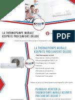 Thermopompe murale Keeprite Proconfort Deluxe - comparer 3 prix