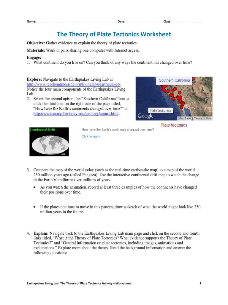 Worksheets Continental Drift Worksheet csm platetectonics activity1 worksheet v3 tedl dwc plate tectonics geology