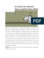 Factors That Need to Be Checked Before Joining an Engineering College
