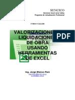 Valorizaciones y Liquidaciones de Obra c