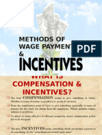 Methods of Wage Payment & Incentive Plans