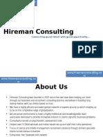 Hireman Cnsulting Presentation