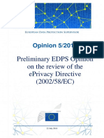 16-07-22 Opinion EPrivacy En