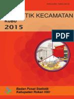 Statistik Kecamatan Kubu Babussalam 2015