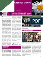 Newsletter Doris Schröder-Köpf