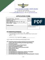 EACAA Application