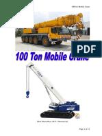 100Ton Mobile Crane