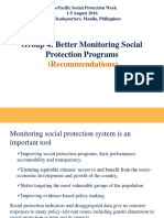 APSP - Group 4 Recommendations_Better Monitoring Social Protection Programs