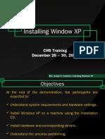 Installing XP Final