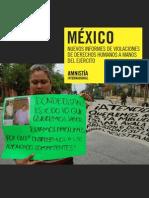 México. Nuevos informes de violaciones de derechos humanos a manos del ejército.